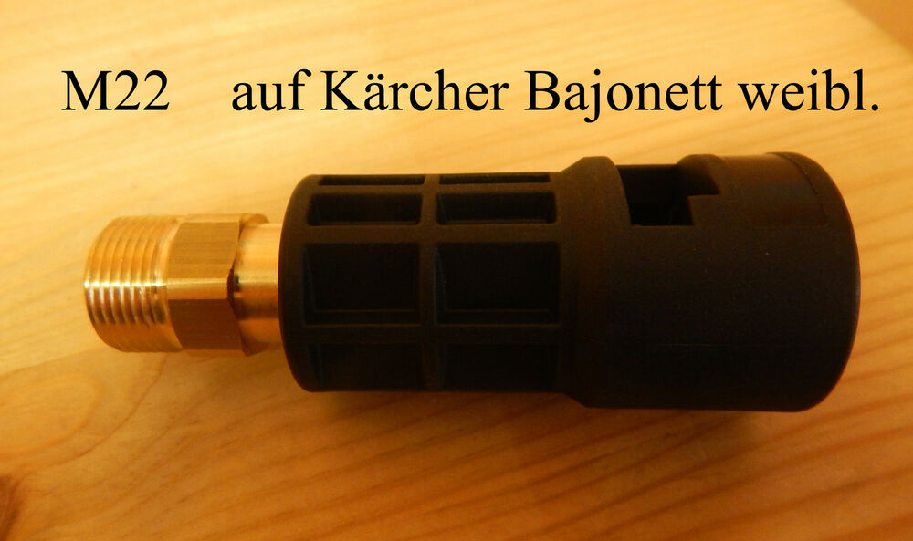 adapter von k rcher bajonett k auf m22 aussengewinde. Black Bedroom Furniture Sets. Home Design Ideas