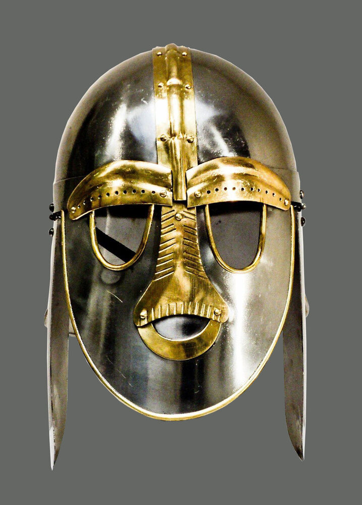 Details about  SUTTON HOO 'ANGLO-SAXON' HELMET - medieval / england / role-play / theatre