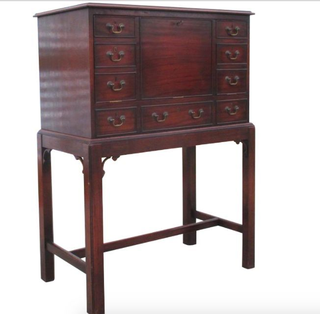 English antique drop front writing desk ebay