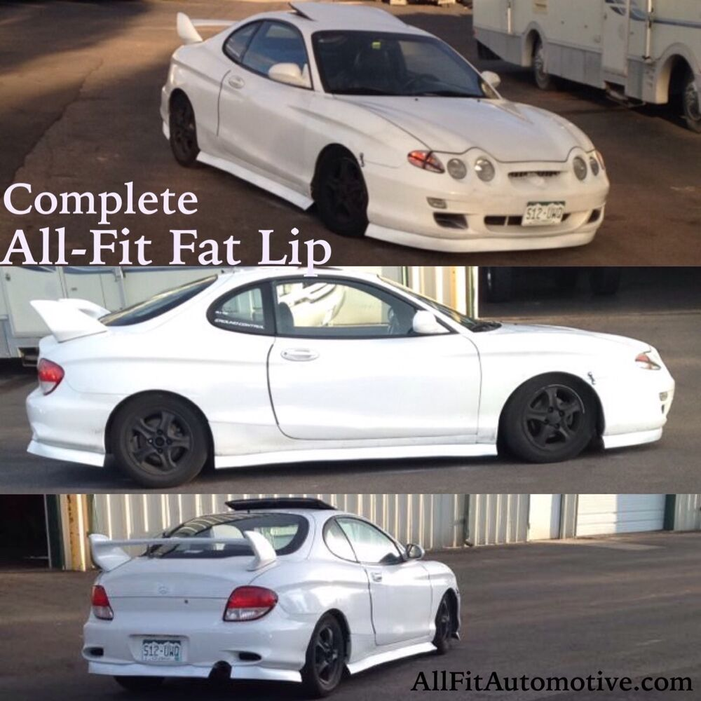 3 5 Fat White All Fit Universal Lip Kit Aftermarket Car
