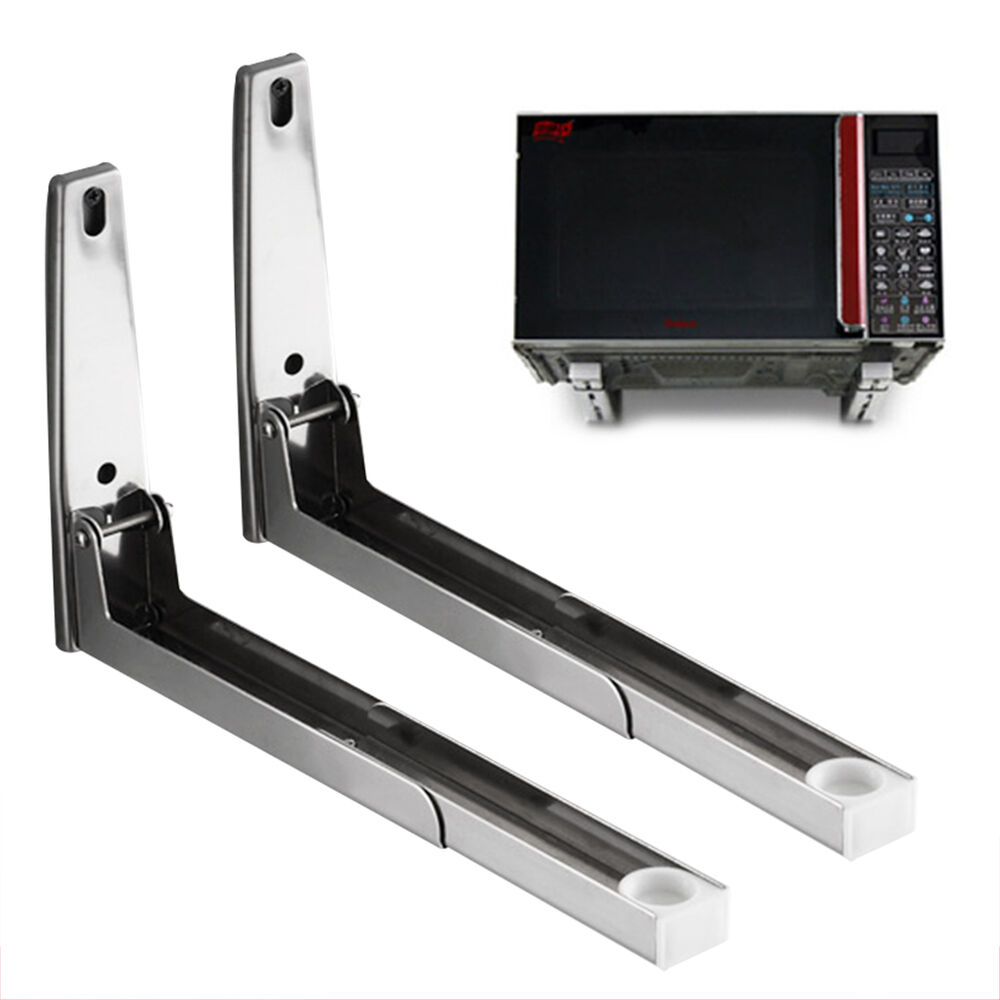 2 Universal Microwave Wall Mounting Stand Holder Brackets