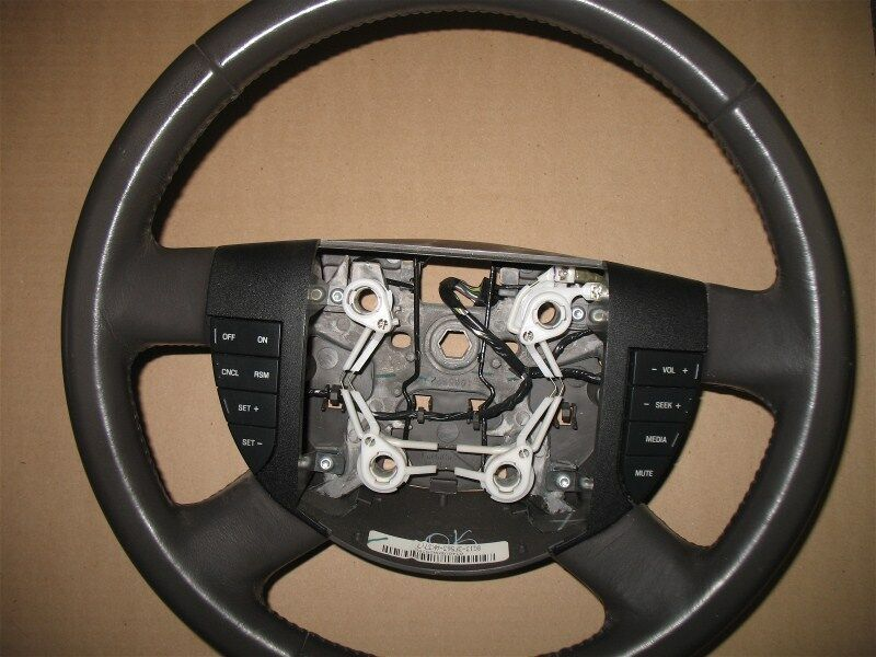 2008 ford taurus sedan steering wheel brown with radio. Black Bedroom Furniture Sets. Home Design Ideas