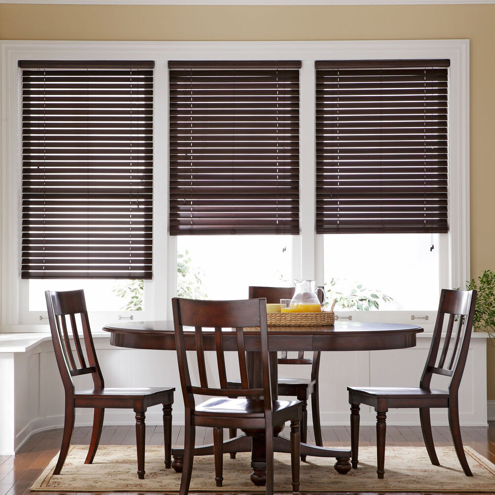 2 Quot Natural Wood Blinds 6 Colors Free Shipping Ebay