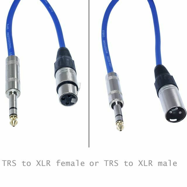 1 4 trs to xlr male female shielded balanced pro audio pa patch cable mic cord ebay. Black Bedroom Furniture Sets. Home Design Ideas