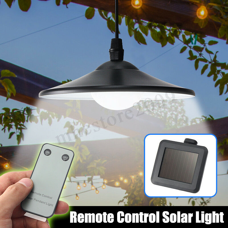 Hanging Outdoor Garage Lights: Solar Outdoor Garden LED Shed Patio Light Pendant Hanging