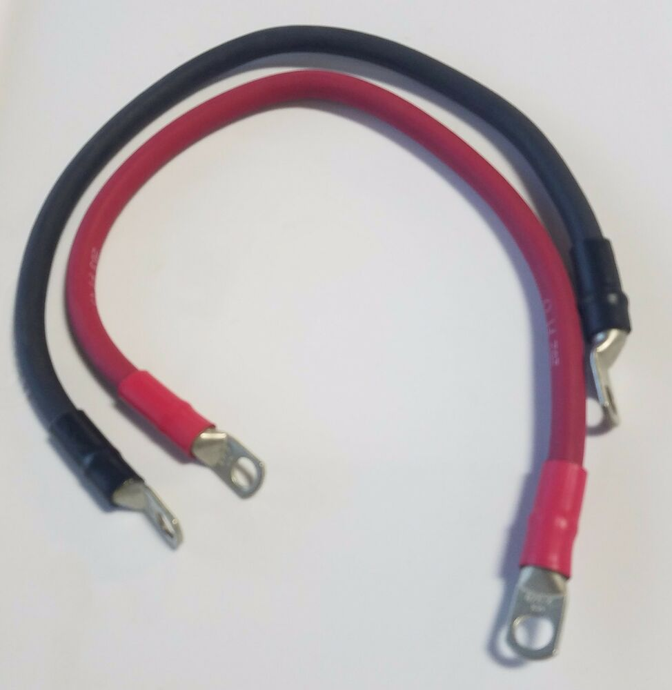 Inverter Battery Cables : Gauge awg custom battery cable solar audio power