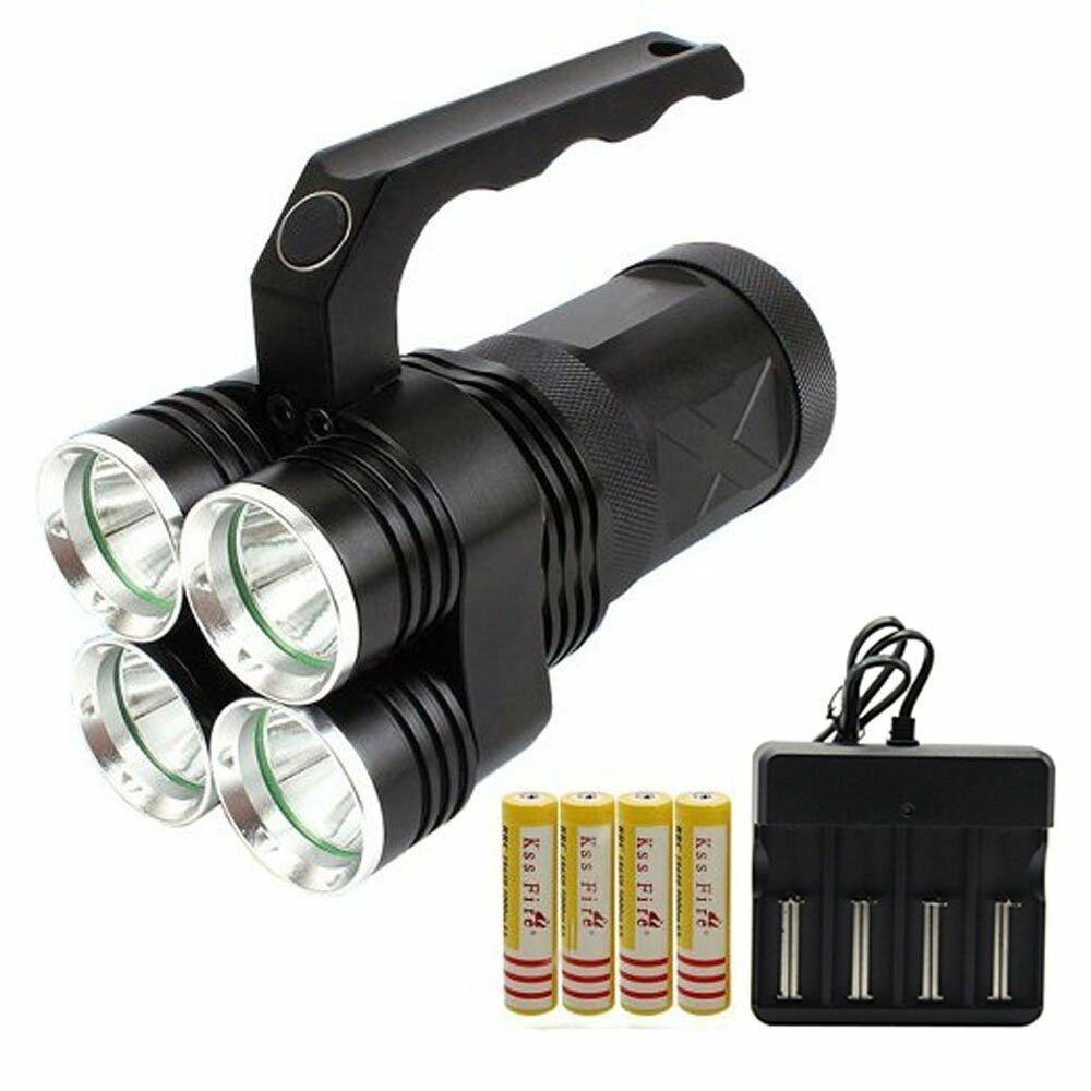 Led Spotlight Rechargeable: Searchlight LED Rechargeable Spotlight Flashlight 7000