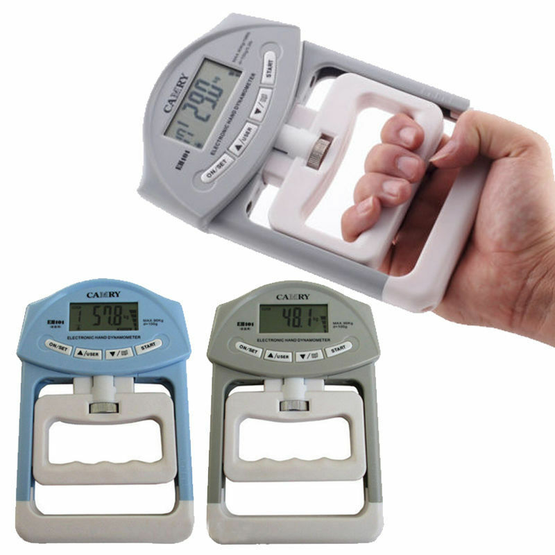 Hand Held Dynamometer : Electronic fitness equipment dynamometer digital hand grip