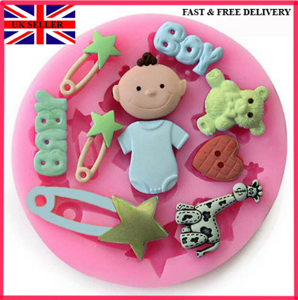 Cake Decorating Ideas For Baby Dedication : Silicone Cake Decoration Fondant Mould Mold Birthday Baby ...