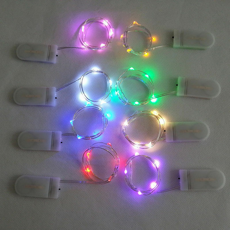 Watch Battery Led String Lights : 10 LED Battery Power Operated Copper Wire Mini Fairy Light String 8 Colors UK eBay