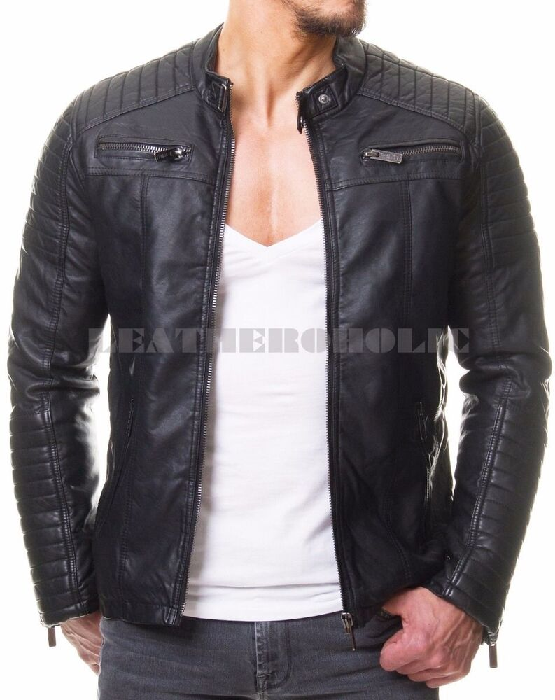 Fashion Biker Jacket Mens
