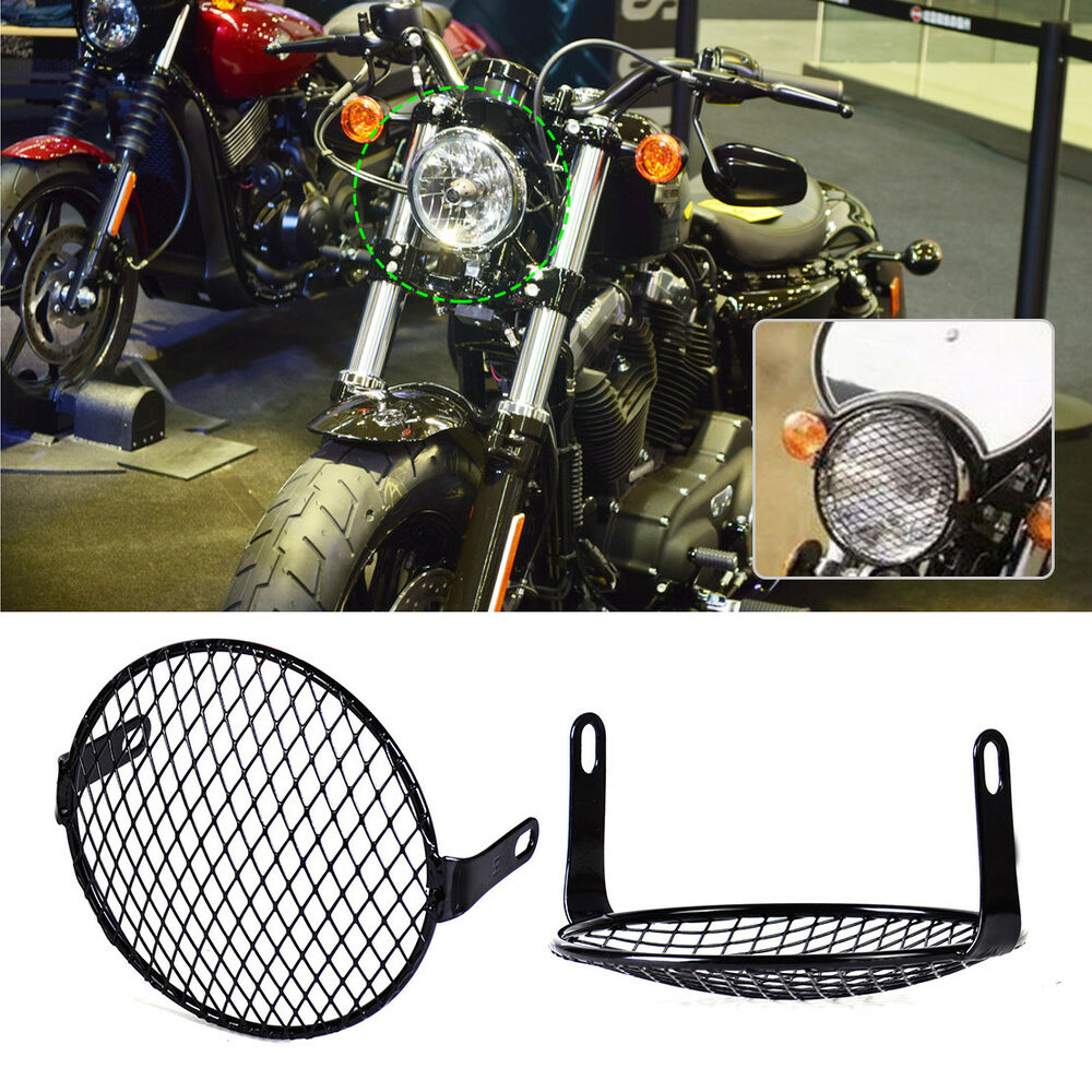 16cm retro motorrad scheinwerfer gitter lampe grill metall. Black Bedroom Furniture Sets. Home Design Ideas
