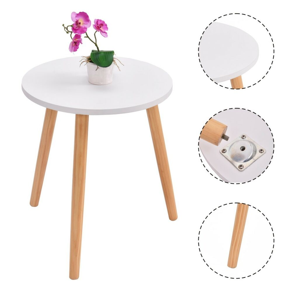 Modern Round Coffee Tea Side Sofa Table Living Room