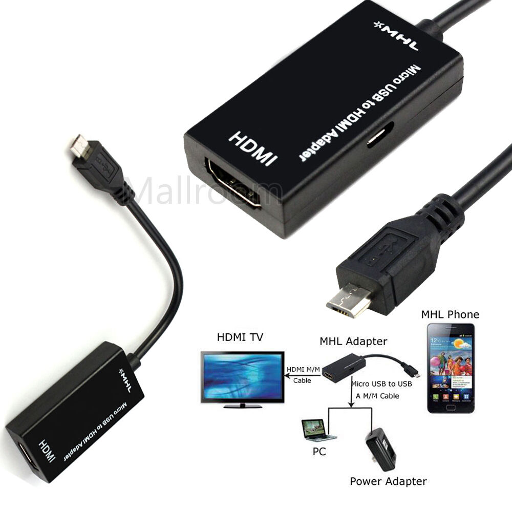 micro usb to hdmi 1080p mhl2 0 hdtv kable adapter for. Black Bedroom Furniture Sets. Home Design Ideas