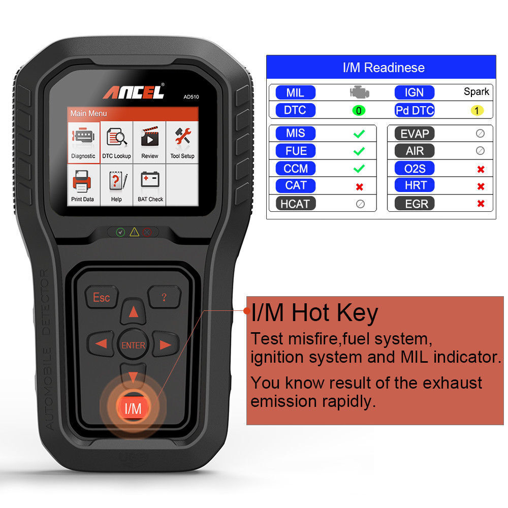 Ancel AD510 OBD2 Auto Scanner Diagnostic Code Reader Car