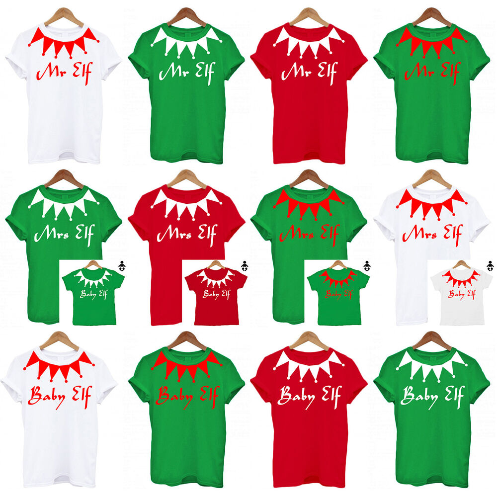 Personalised Family Elf Set Christmas, PJS Daddy Mummy ...