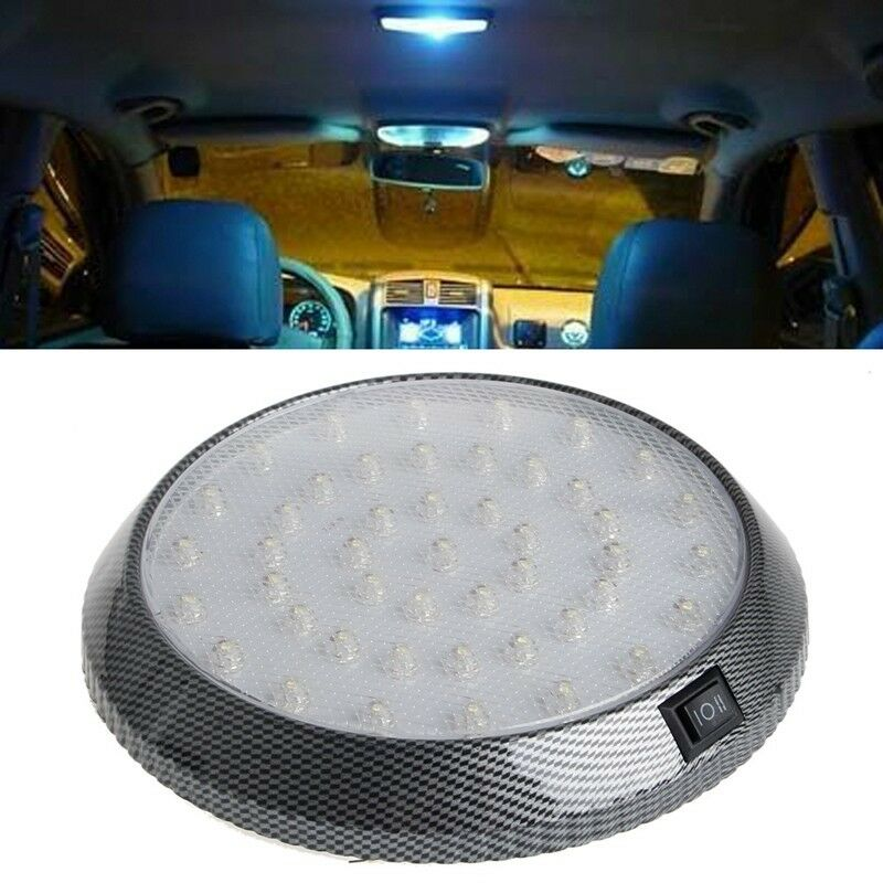 1Pc White 12V 46-LED Car Vehicle Interior Indoor Roof