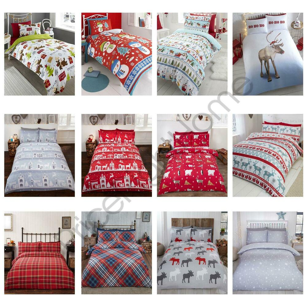 Christmas Duvet Cover Sets 100 Brushed Cotton Flannelette