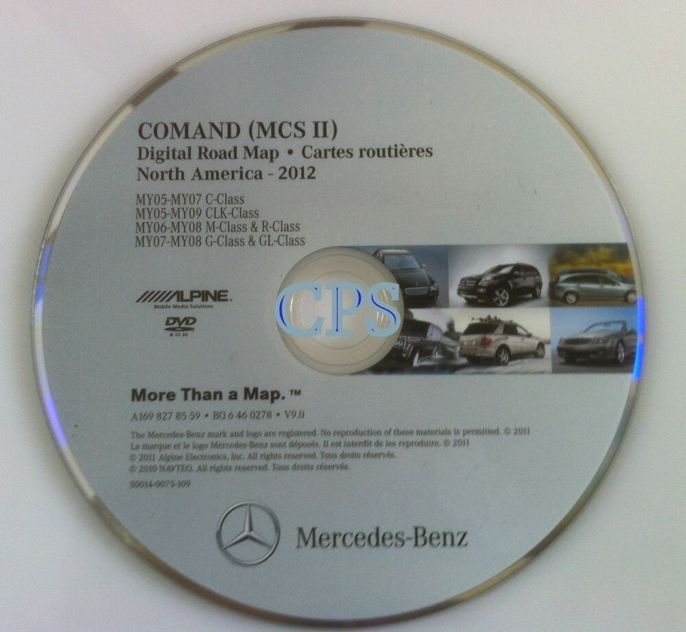2012 update oem mercedes benz navigation dvd comand mcs for Mercedes benz navigation update