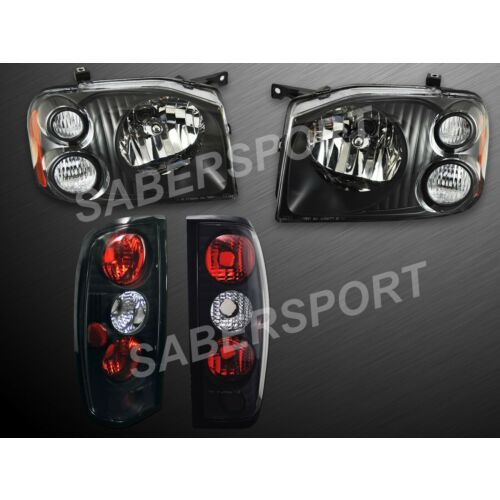 pair-eagle-eyes-black-headlights-taillights-for-20012004-nissan-frontier