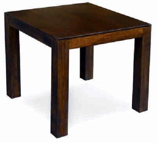 dakota 80cm dining table solid mango wood in dark walnut finish