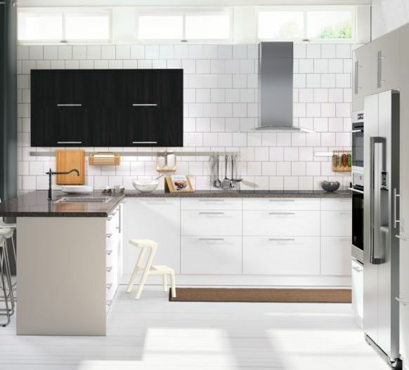 Ikea Abstrakt White Cabinet Doors/Drawer Faces- Hi Gloss