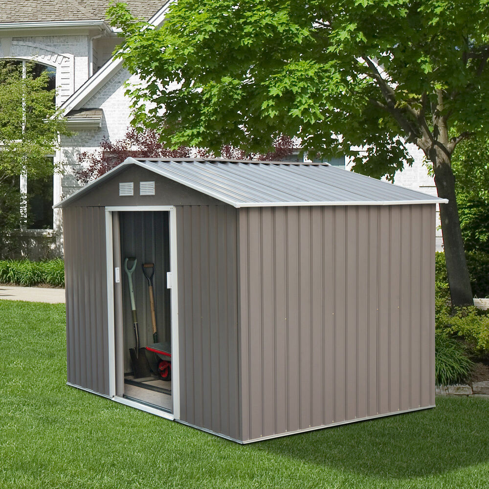 9 39 x6 39 outdoor storage shed box utility tool backyard for Storage house for backyard