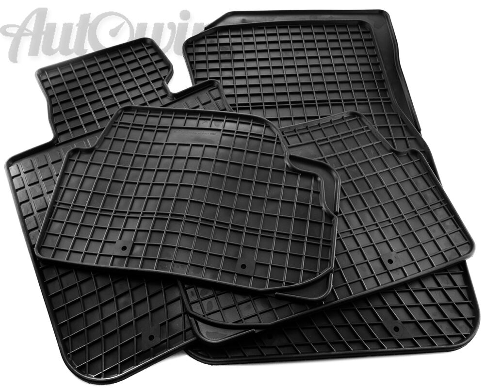 Rubber Black Floor Mats For Mercedes Benz Gl Class X166