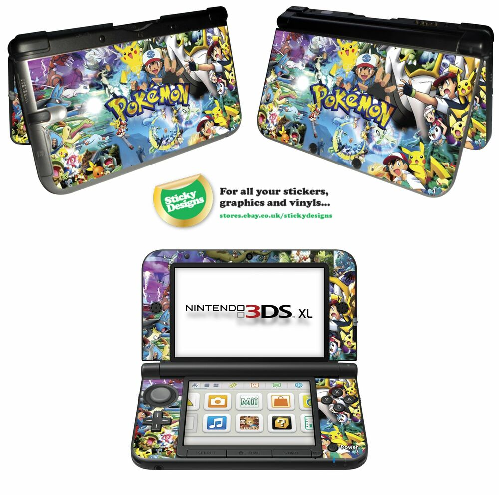 Pokemon 3ds xl skin images pokemon images for Coque 3ds xl pokemon