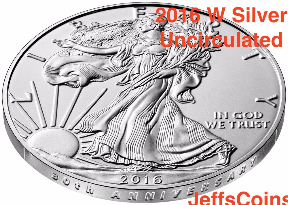 2016 W Unc American Eagle Silver Dollar Uncirculated West