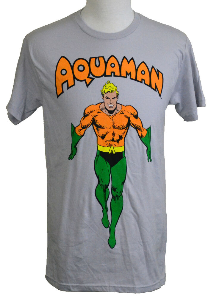 Classic Book Cover Tee Shirts : Dc comics aquaman t shirt classic comic book superhero