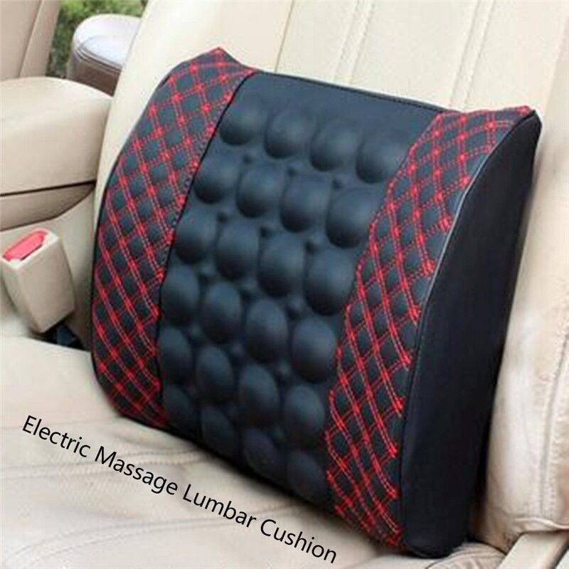 back massage cushion chair seat car massager lumbar waist spine relax ebay. Black Bedroom Furniture Sets. Home Design Ideas