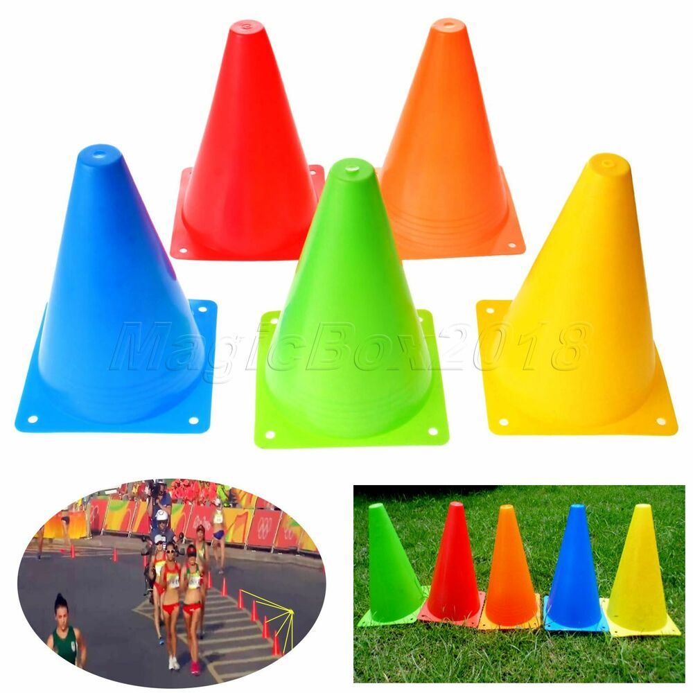 36a790b26 Details about 6x 18cm Agility Cone Marker Training Sport Safety Traffic  Football Soccer Roller
