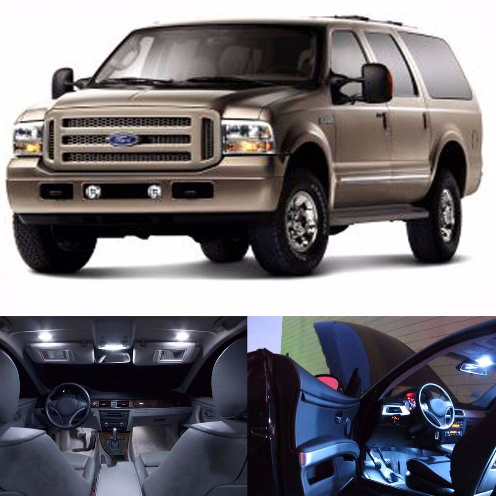 Led Lights Interior Package Kit For Ford Excursion 2000 2005 14 Bulbs White Ebay