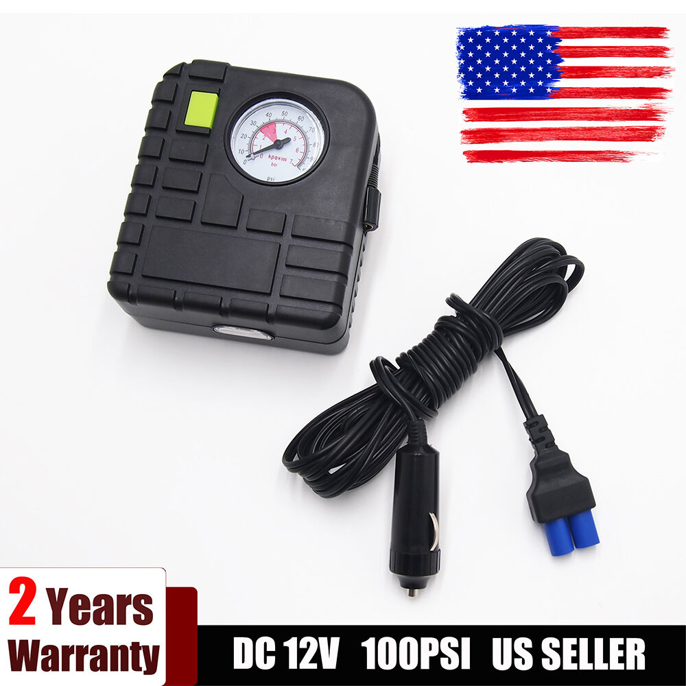 12v 100 psi portable car auto electric pump air compressor tire inflator ebay. Black Bedroom Furniture Sets. Home Design Ideas