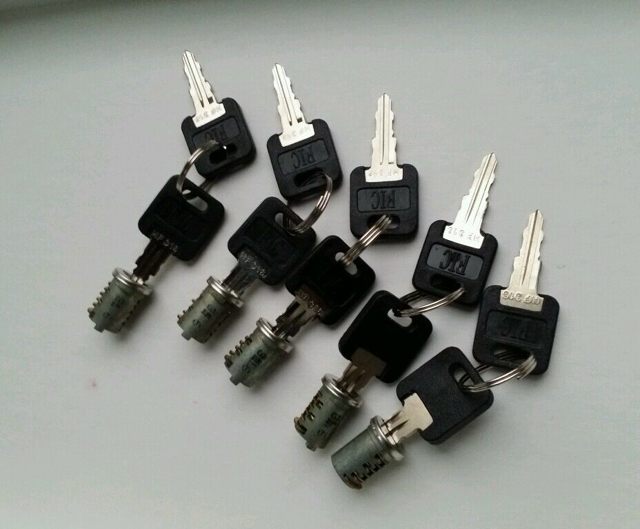 New Set Of 5 Fic Replacement Cylinders With 10 Keys Rv