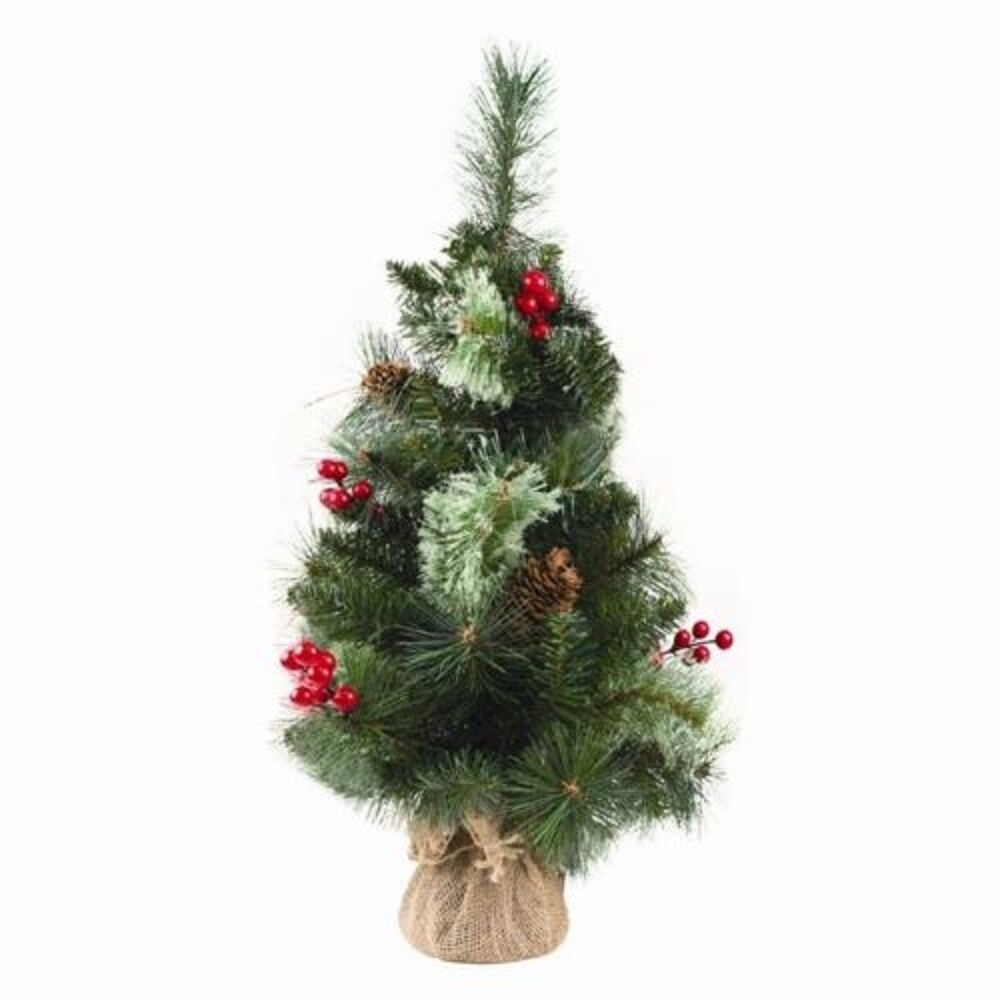 Ebay Christmas Tree: 2ft / 60cm Small Christmas Tree Mixed Cone And Berries