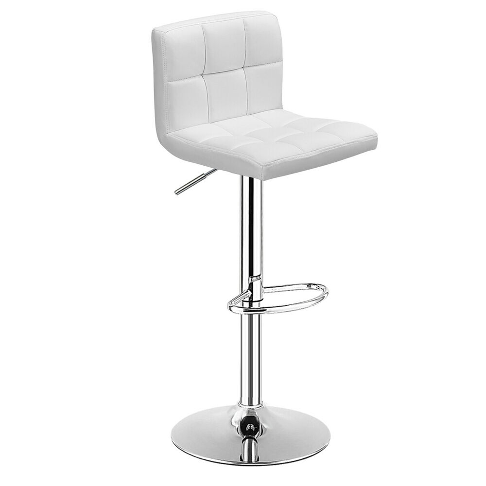 1 Pc Bar Stool Swivel Adjustable Pu Leather Barstools