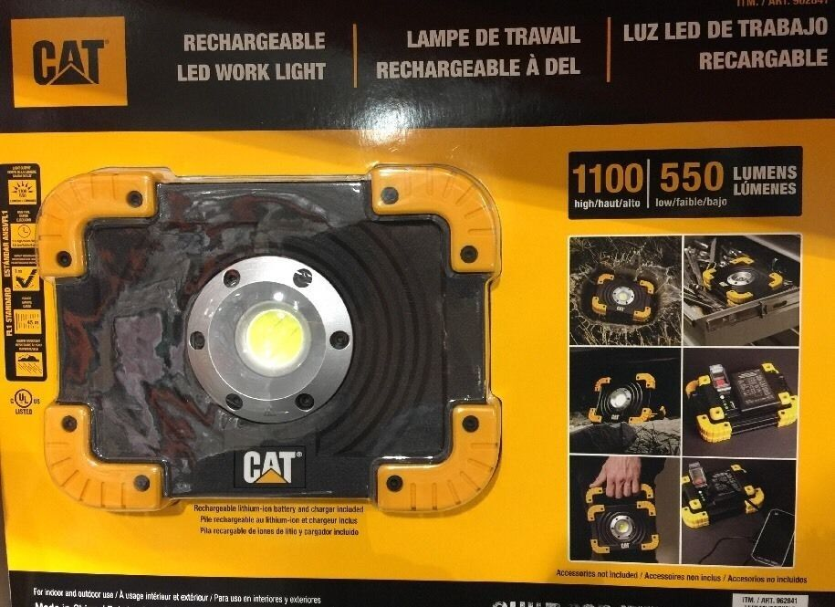 Led Cat Work Lights : Cat rechargeable led worklights high low lumens