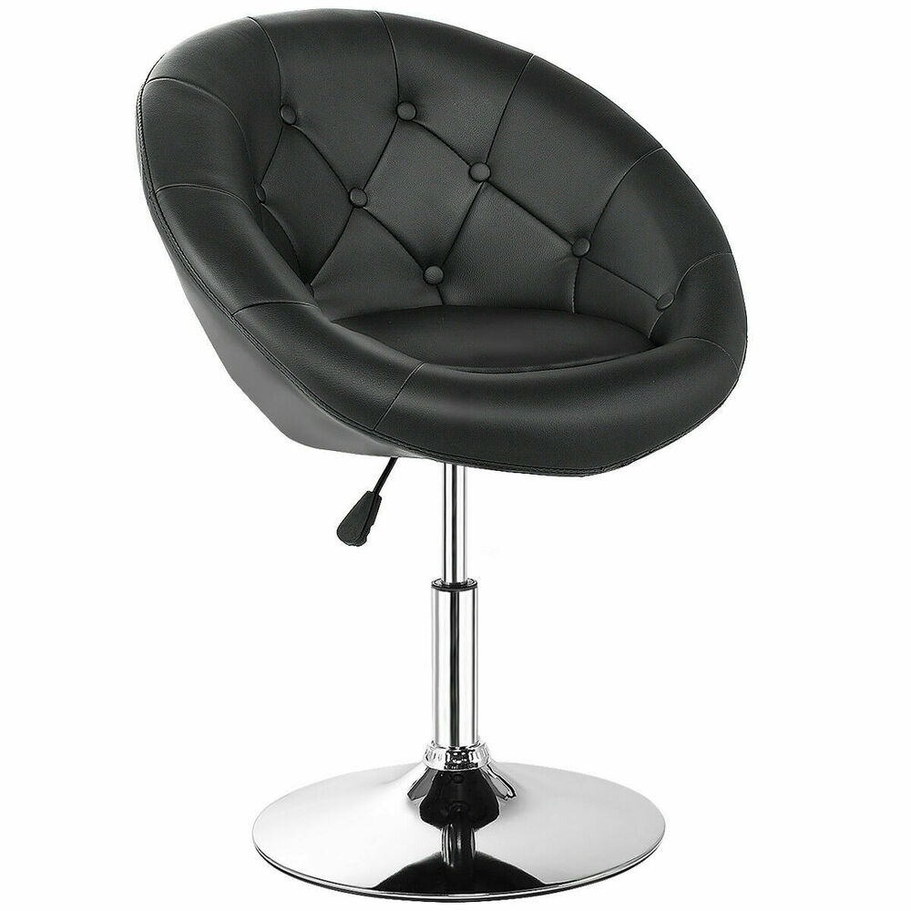 1pc Adjustable Modern Swivel Round Tufted Back Accent