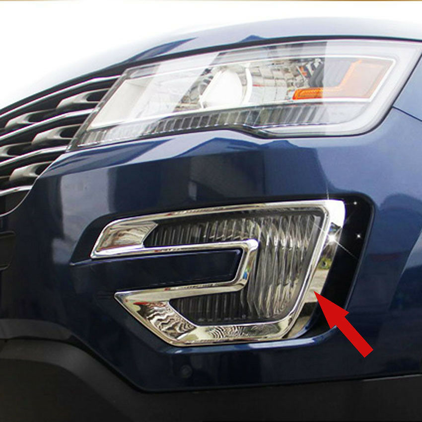 Chrome ABS Car Front Fog Light Lamp Cover Trim For Ford