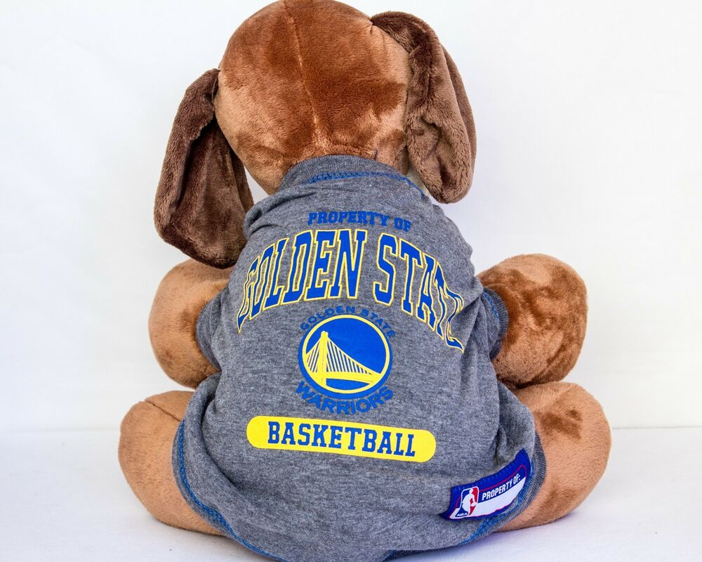 detailed pictures 6485a 4cd9b Golden State Warriors Dog Shirt NBA Basketball Officially ...