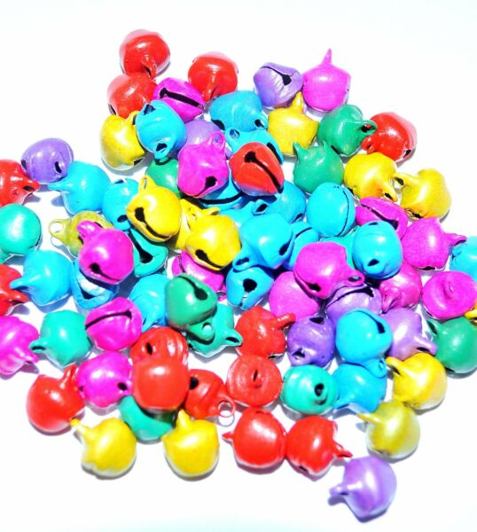 wholesale 1000 pcs iron charm bell, 6 mm, 8 mm, and 10 mm, option for colours