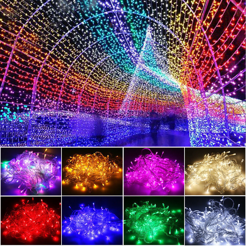 Ebay Outdoor Xmas Lights: 10/20M 100/200 LED Fairy String Lights Lamp Garden Decor
