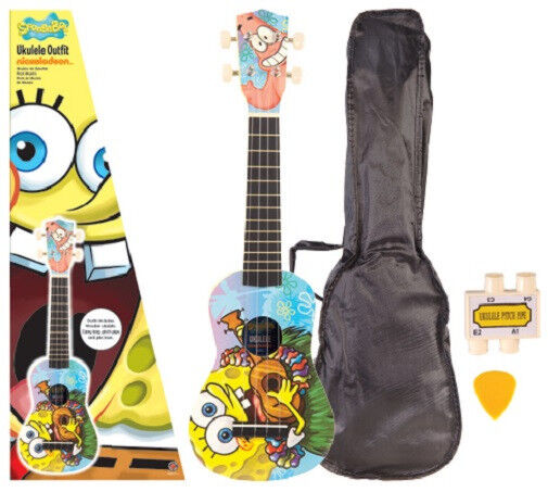 New In Box Spongebob Squarepants Aloha Ukulele Pack Uke Bag