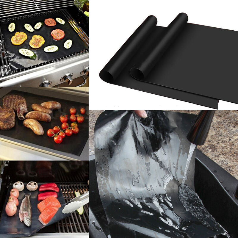 Lot Of 10 Mats Easy Bbq Grill Mat Bake Nonstick Grilling