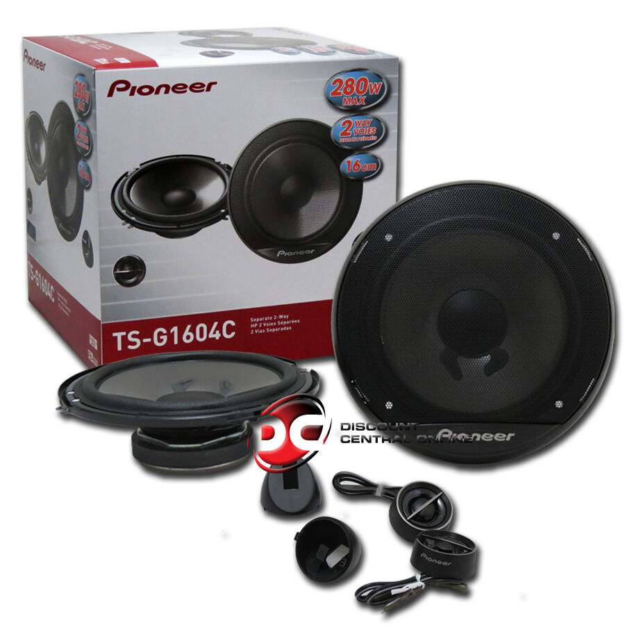 pioneer ts g1604c 6 5 2 way car audio component speakers. Black Bedroom Furniture Sets. Home Design Ideas