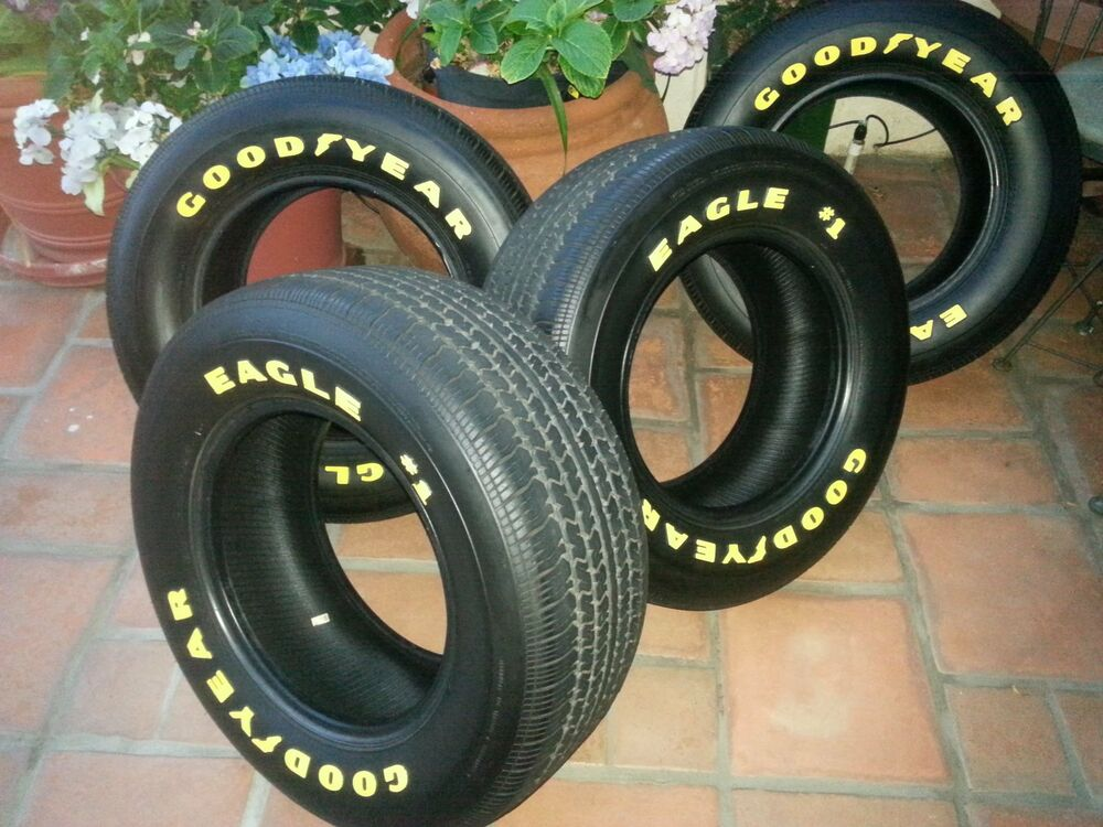 GOODYEAR EAGLE #1 YELLOW LETTER TIRES 255/60/15 | eBay