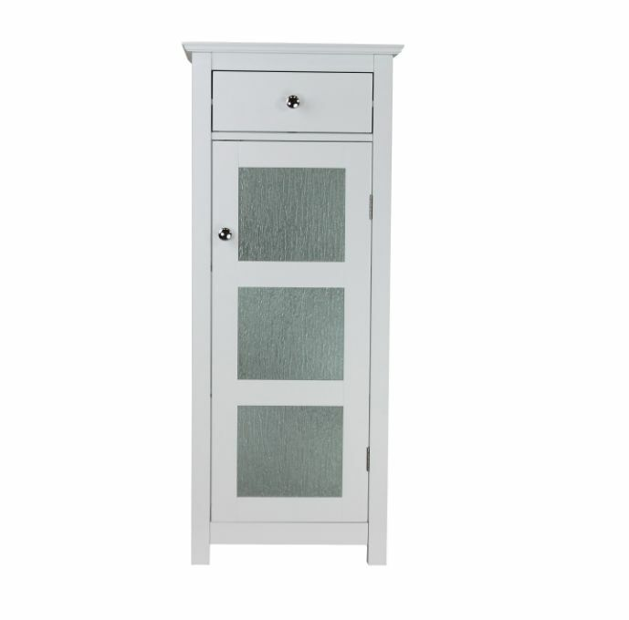 bathroom floor cabinet furniture white storage small wood single