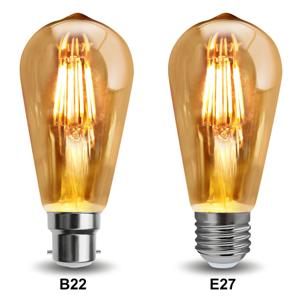 vintage dimmable led 6w squirrel cage edison style light bulb b22 or e27 ebay. Black Bedroom Furniture Sets. Home Design Ideas